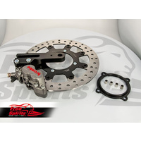 Rear bracket, 4 pot brake caliper & Rear 300mm Floating Brake Disc for Triumph Classic - KIT