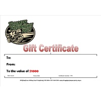 Gift Vouchers $20, $50, $75, $100, $250 Available