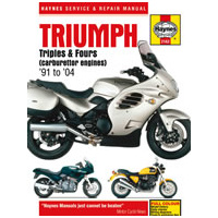 Haynes Workshop Manual Triumph Triples and Fours (carburettor engines) (91 - 04)