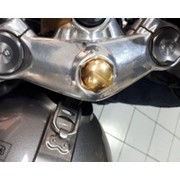 Steering Stem Nut - Brass