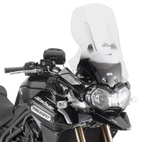 GIVI Adjustable Windscreen - Transparent for the Tiger 1200