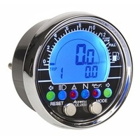 Acewell 2853 Digital Speedometer with Chrome fascia ring. Ideal for Cruisers and Customs