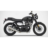 Zard Low Mount Conical 2 into 1 Full System Exhaust for the Street Scrambler