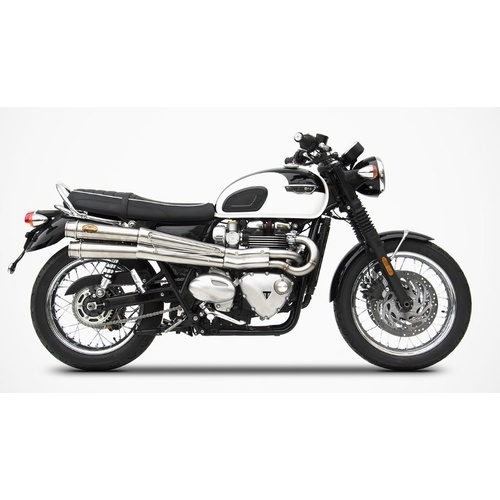 High Mount Full System (with Replacement Right Hand Aluminium Side Panel) for the Bonneville T120
